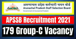 APSSB Recruitment 2021: 179 Group C Vacancy
